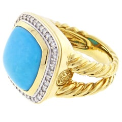 David Yurman Albion Turquoise and Diamond Ring