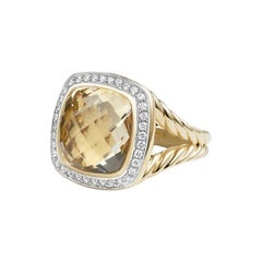 David Yurman Albion with Champagne Citrine and Diamonds Ring