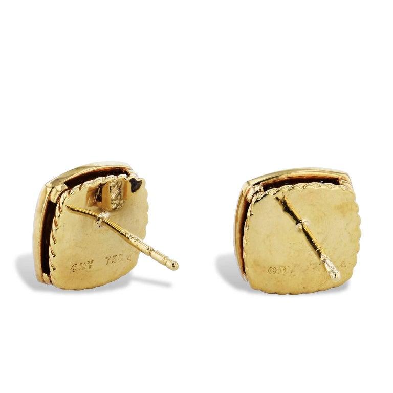 Women's David Yurman Amethyst and 0.46 Carat Diamond Pave Albion Stud Earrings For Sale