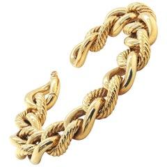 David Yurman 'Belmont' Curb Link 18 Carat Yellow Gold Bracelet