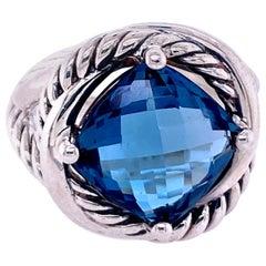 David Yurman Blue Topaz Ring