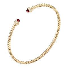 David Yurman Bracelet in 18K Gold with Garnet and Diamonds, B13767D88AGADI