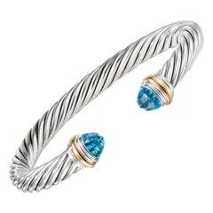 David Yurman Cable Bracelet with Blue Topaz B04425 S4ABTM