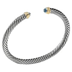 David Yurman Cable Classics with Blue Topaz & Gold Bracelet B03934S4ABTM