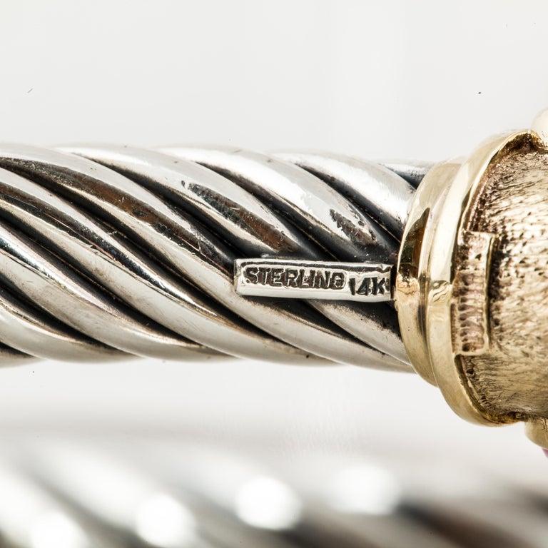 Women's David Yurman Cable Cuff Bracelet with Gemstones