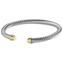 David Yurman Cable Cuff Pearl Bracelet
