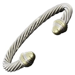 David Yurman Cable Mixed Metals Cuff Bracelet