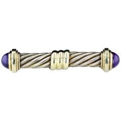 David Yurman Cable Pin with Cabochon Amethysts