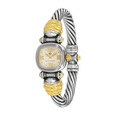 David Yurman Cable Silver and 18 Karat Yellow Gold Watch T-61533