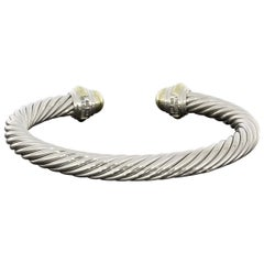 David Yurman Cable Sterling Silver Cuff Bracelets