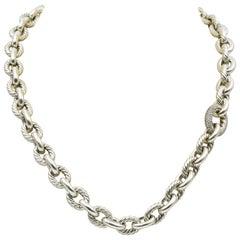 David Yurman Cable Wrap Chain with Pave Diamond Station