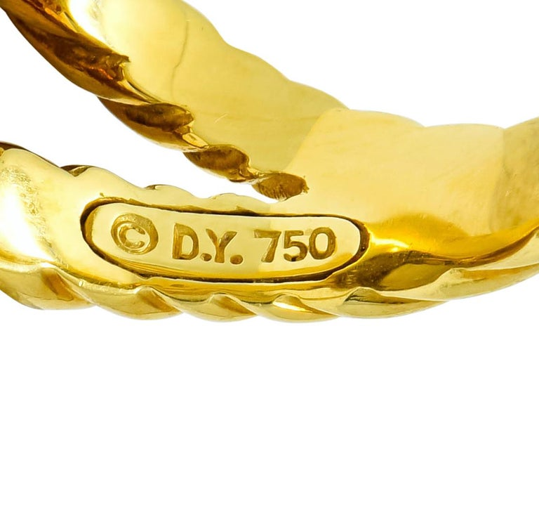 David Yurman Champagne Topaz Diamond 18 Karat Gold Statement Ring For Sale 1