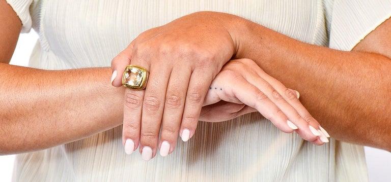 David Yurman Checkerboard Quartz 18 Karat Gold Sterling Silver Albion Ring For Sale 5