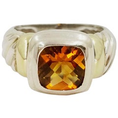 David Yurman Citrine Noblesse Two-Tone Ring
