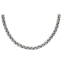 David Yurman Silver & Gold Classic Wheat Chain Necklace with Hook Clasp