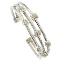 David Yurman Confetti Diamond Three-Strand 7 Diamond Station Bracelet