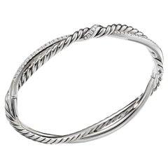 David Yurman Continuance Sterling Silver Bracelet with Diamonds B13782DSSADI