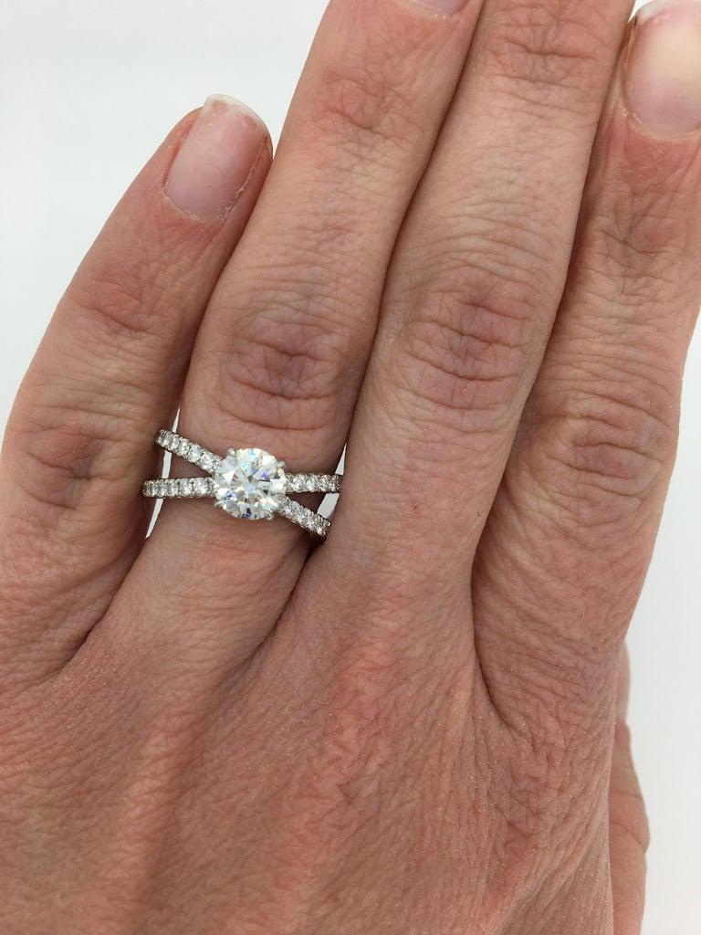 David Yurman Crossover Diamond Engagement Ring For Sale At