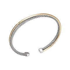 David Yurman Crossover Sterling Silver & Gold Bracelet B14191 S8