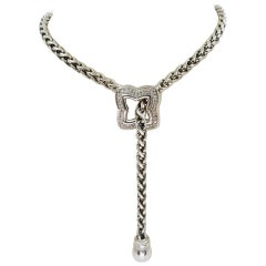 David Yurman Diamond Quatrefoil Lariat Necklace