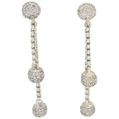 David Yurman Double Drop Sterling and 18 Karat Gold Earrings