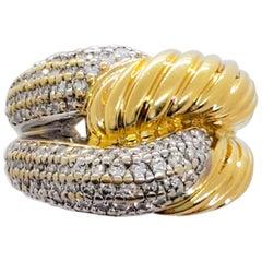 David Yurman Estate White Diamond and Gold Ring