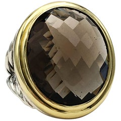 David Yurman Gold and Silver Quartz Ring