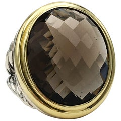 David Yurman Gold and Silver Quartz Ring