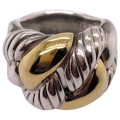 David Yurman Gold and Sterling Ring