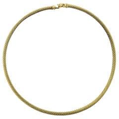 David Yurman Gold Choker Necklace