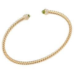 David Yurman Gold with Peridot and Diamonds, Bracelet B13767D88APRDI