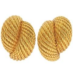 David Yurman Gold Woven Earrings