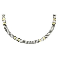 David Yurman Hampton Pearl Gold and Silver Chain