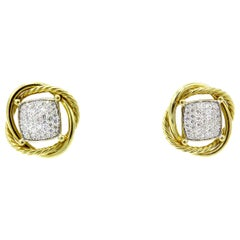 David Yurman Infinity Crossover Pave Diamonds Earrings