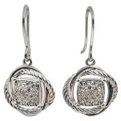 David Yurman Infinity Pave Diamond Drop Earrings
