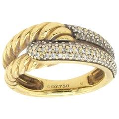David Yurman Labyrinth Diamond Gold Ring