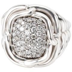 David Yurman Labyrinth Diamond Ring in Sterling Silver 1 Carat