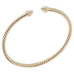 David Yurman Ladies Bracelet in Yellow Gold with Diamonds, B13769D88ADI