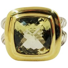David Yurman Lemon Citrine Quartz Albion Ring