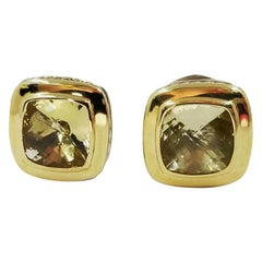 David Yurman Lemon Citrine Quartz Albion Stud Earrings