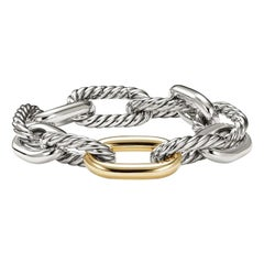 David Yurman Madison Chain Large Bracelet with Bonded Gold, B13873 S8