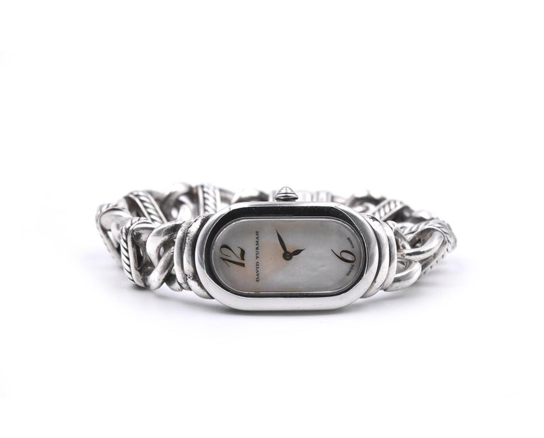 David Yurman Madison Mother of Pearl Watch Ref. T408-MSS In Excellent Condition For Sale In Scottsdale, AZ
