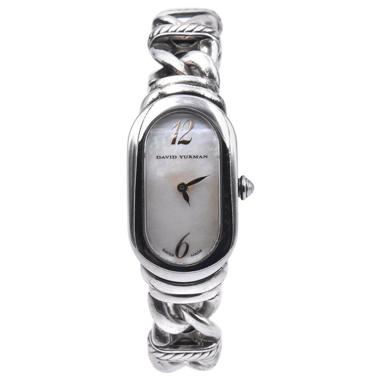 David Yurman Madison Mother of Pearl Watch Ref. T408-MSS For Sale