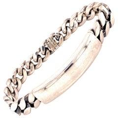 David Yurman Men's Sterling Silver ID Link Bracelet