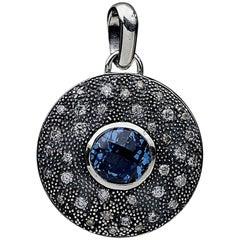 David Yurman Midnight Melange Blue Topaz and Diamond Pendant