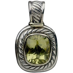David Yurman Mixed Metals Cushion Quartz Pendant