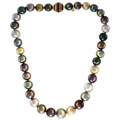 David Yurman Multi-Color South Sea Pearl Limited Edition Strand Necklace