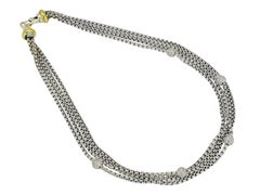 David Yurman Multistrand Diamond Necklace