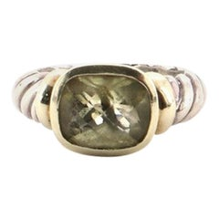 David Yurman Noblesse Ring Sterling Silver with 14 Karat Yellow Gold and Citrine