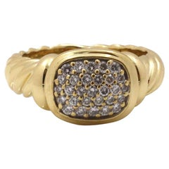 David Yurman Noblesse Yellow Gold and Diamond Ring